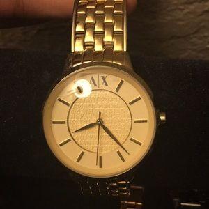 Armani watch gold